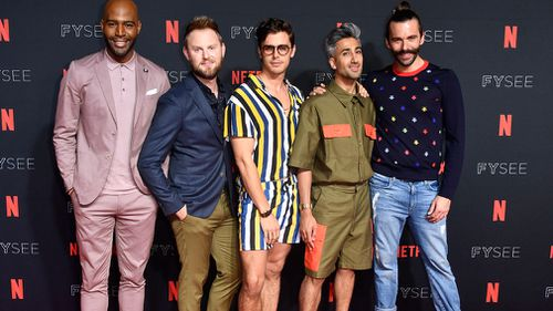Karomo Brown, Bobby Berk, Antoni Porowski, Tan France and Jonathan Van Ness are in Australia. (Getty)