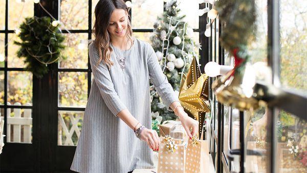 Setting up presents at Christmas