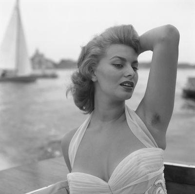 Actress Sophia Loren in Venice in 1955