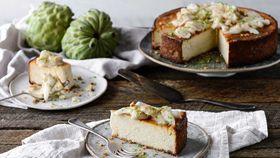 Ricotta and custard apple cheesecake