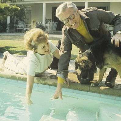 Allen Ludden and Betty White at home in 1972.