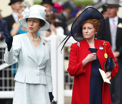 Princess Anne and Lady attend Day 1 of Royal Ascot at Ascot Racecourse on June 18, 2013.