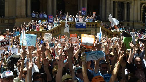Protesters expected to rally at Parliament House over ABC funding cuts