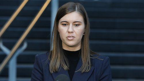 Former political staffer Brittany Higgins.