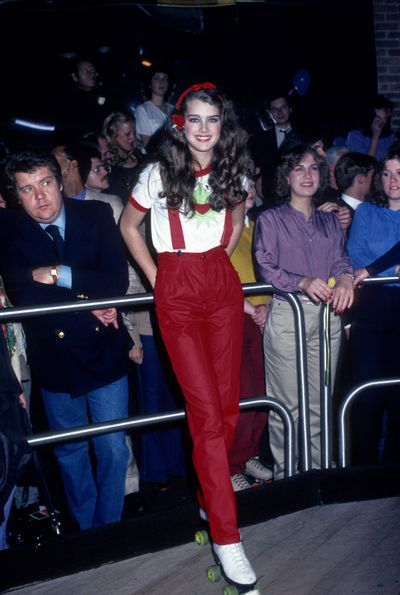Brooke Shields at a New York roller disco, January, 1980.