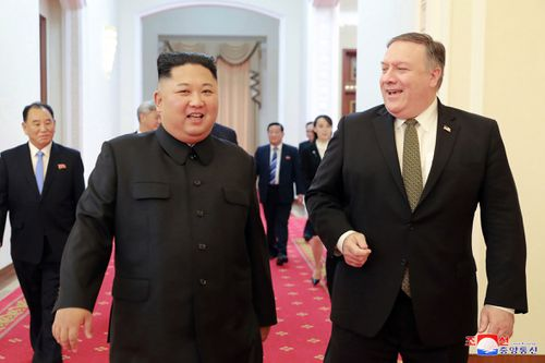 Kim Jong-un and Secretary of State Mike Pompeo had lunch and discussed future relations between the two countries.