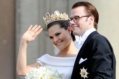 Princess Victoria of Sweden fell in love with her personal trainer Daniel Westling in 2002. They married in a lavish ceremony in June last year.