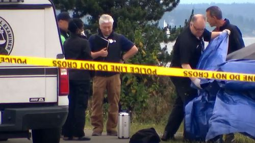 Plastic bags containing human remains have been found in West Seattle.