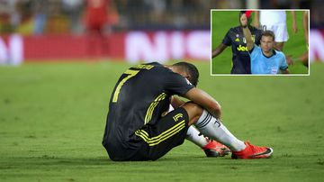 Ronaldo cries after being marched