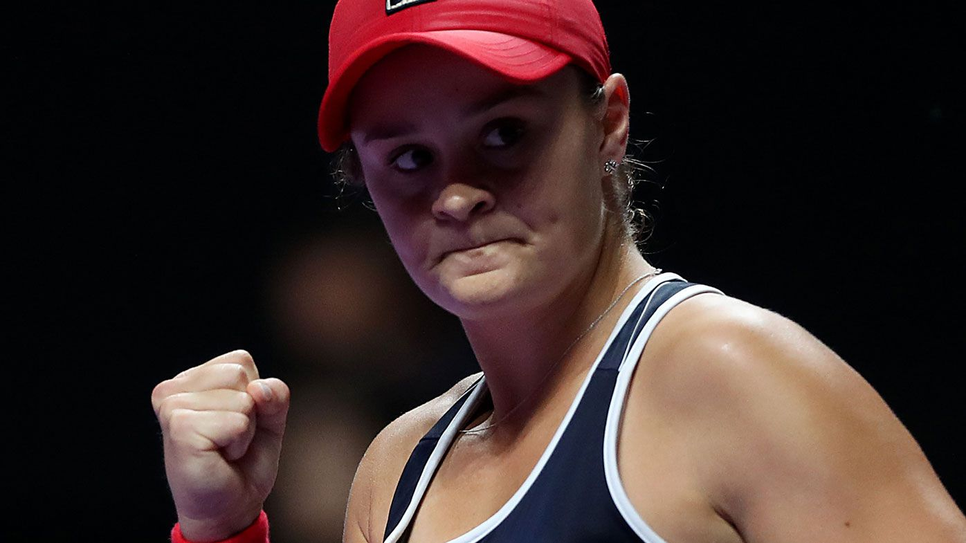 Ashleigh Barty reaches WTA Finals title decider, beating Karolina Pliskova in semi