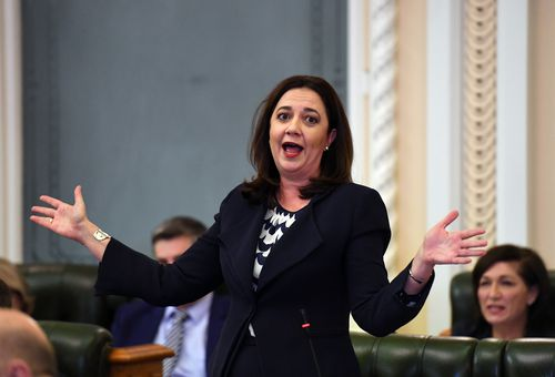 Queensland Premier Annastacia Palaszcuk heralds resources sector for helping to triple state budget surplus. Picture: AAP