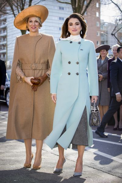 Queen Maxima of The Netherlands and Queen Rania of Jordan in Germany, March 2018