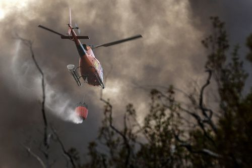 Wildfires are burning because of the hot dry conditions