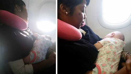 The mum you want to sit next to on a long flight: Stranger's act of kindness on plane leads to friendship and internet fame