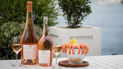 You can pick up a magnum of Rose while relaxing with a seafood treat.