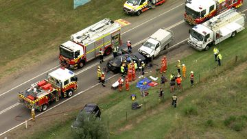 A number of people have been injured in a car crash inn Sydney's west.