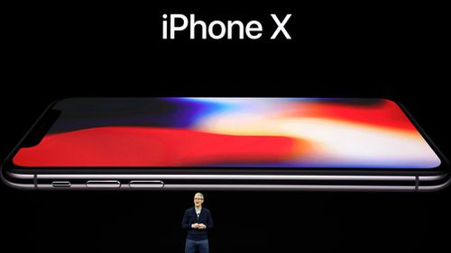 Apple CEO Tim Cook, announces the new iPhone X. (AAP)