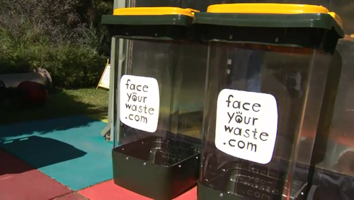 Transparent wheelie bins have had success in seven Perth councils and Adelaide wants to introduce a similar system.