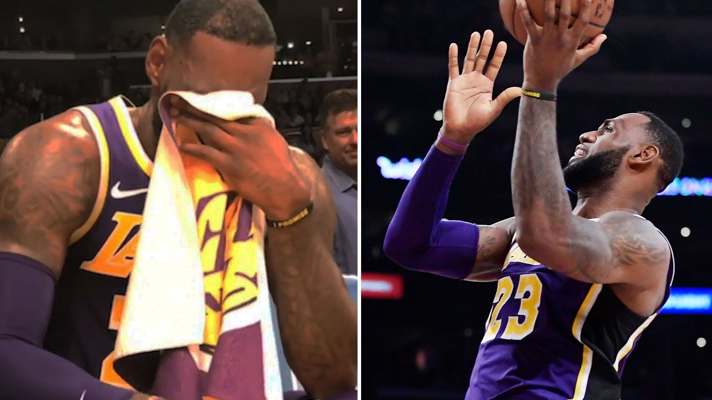 LeBron james gets emotional after surpassing Jordan