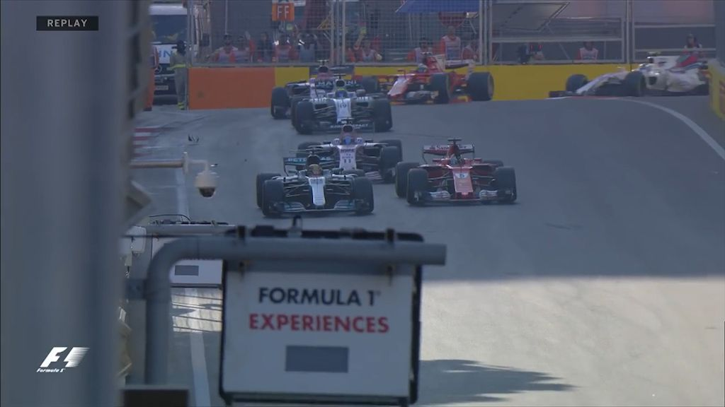 Hamilton and Vettel clash during race