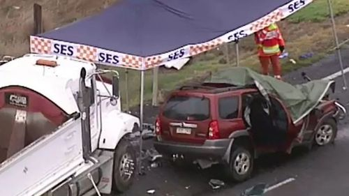 Two people have died following a crash west of Melbourne. (9NEWS)