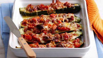 """Recipe:&nbsp;<a href=""""http://kitchen.nine.com.au/2016/05/05/16/15/ratatouille-zucchini-melts"""" target=""""_top"""">Ratatouille zucchini melts</a>"""