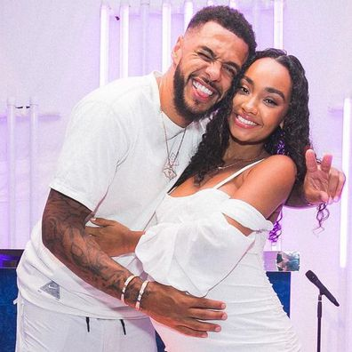 Leigh-Anne Pinnock and fiancé Andre Gray.