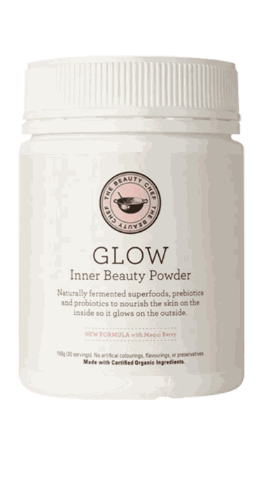 "To nourish skin try:&nbsp;<a href=""http://www.thebeautychef.com/inner-beauty/inner-beauty-powder-150g-3-pack"" target=""_blank"">Glow Inner Beauty Powder, $150, The Beauty Chef</a>"