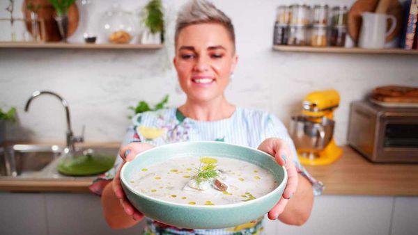 Jane de Graaff's creamy mushroom soup will warm your soul