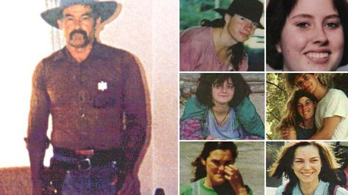 Ivan Milat and photos of his victims