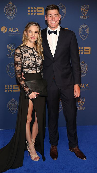 Matthew Renshaw and his partner Josie Harvey.