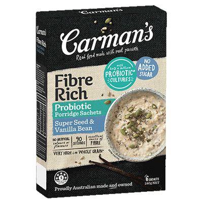 Carman's Fibre Rich Porridge in Super Seed & Vanilla Bean