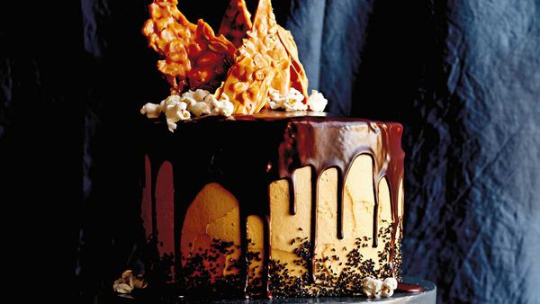 Caroline Griffith's chocolate layer cake with peanut butter frosting