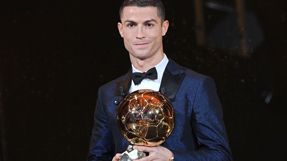Ronaldo wins 5th Ballon d'Or, equals Messi