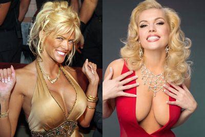 Left: Anna Nicole Smith / Right: Agnes Bruckner