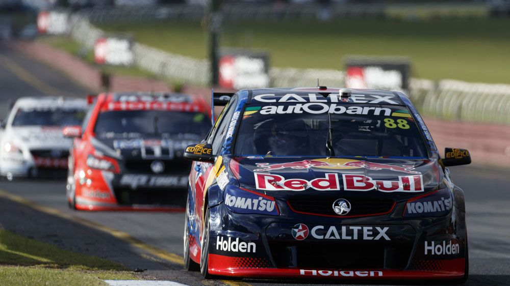 Jamie Whincup's car No.88 will start on pole after the six-time series champion had combined with co-driver Paul Dumbrell to beat home the field in qualifying.(AAP)