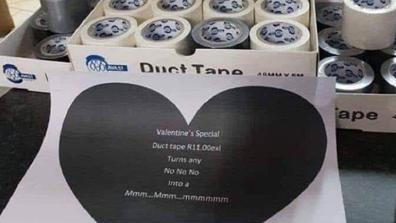 Valentine's Day duct take 'joke' shared on Reddit