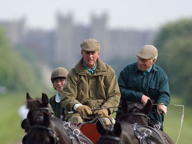 Prince Philip carriage driving in 2004
