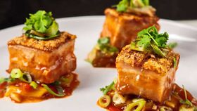Crispy skin pork with sweet and sour sauce