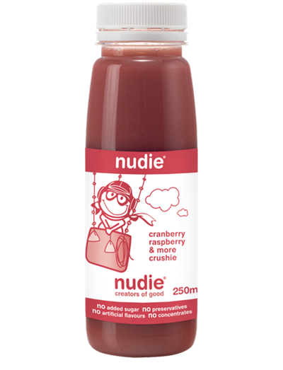 <strong>250ml Nudie Juice Cranberry and Raspberry (30 grams of sugar)</strong>