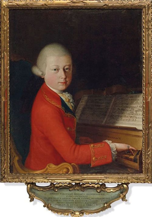 The painting was commissioned by Pietro Lugiati, a chief tax collector from Venice, after an organ concert by Mozart in Verona.