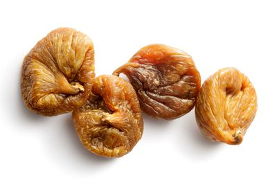 Dried figs: 47.3g sugar per 100g