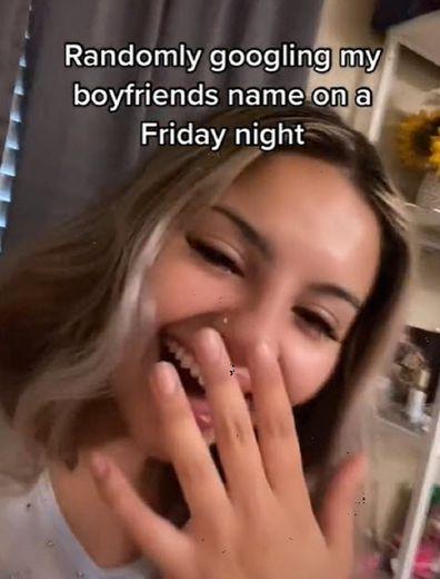Woman boyfriend discovery Google search shares results on TikTok