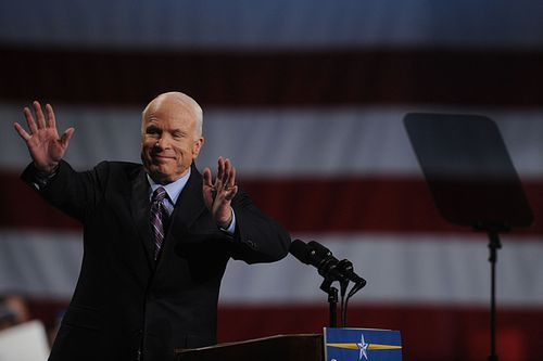 John McCain, who ran twice for president, on the campaign trail.