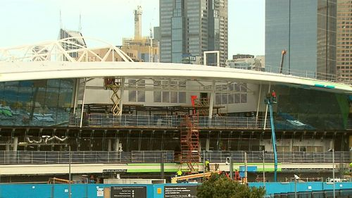 The re-naming is part of Melbourne Park's revamp. Picture: 9NEWS