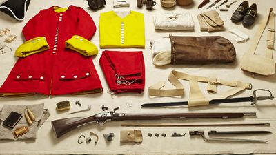Here a soldier from the War of Spanish Succession is again equipped with a musket.