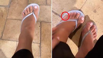 Kim Kardashian, Instagram video, six toes, rumours
