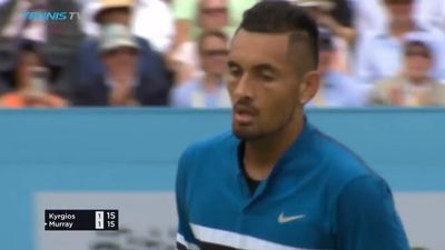 Australia's Nick Kyrgios confident after fighting victory over Andy Murray at Queen's