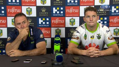 Canberra Raiders call out 'ordinary' high shot by Sam Burgess, Souths star facing another NRL suspension