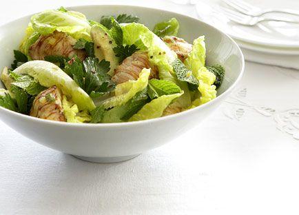 Balmain bug, avocado and preserved lemon salad